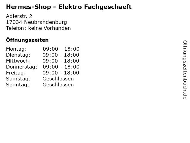 Hermes-Shop - Elektro Fachgeschaeft in Neubrandenburg: Adresse und Öffnungszeiten