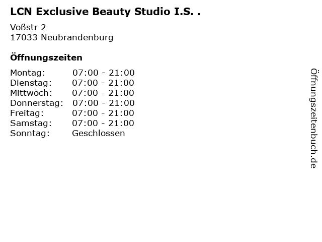 LCN Exclusive Beauty Studio I.S. . in Neubrandenburg: Adresse und Öffnungszeiten