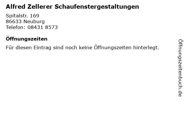 Alfred Zellerer Schaufenstergestaltungen in Neuburg: Adresse und Öffnungszeiten