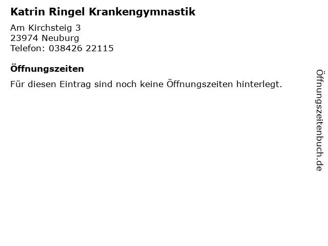 Katrin Ringel Krankengymnastik in Neuburg: Adresse und Öffnungszeiten