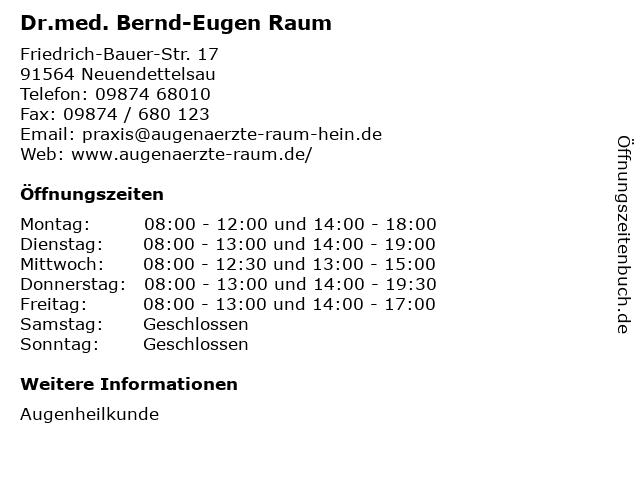 Dr Raum Neuendettelsau