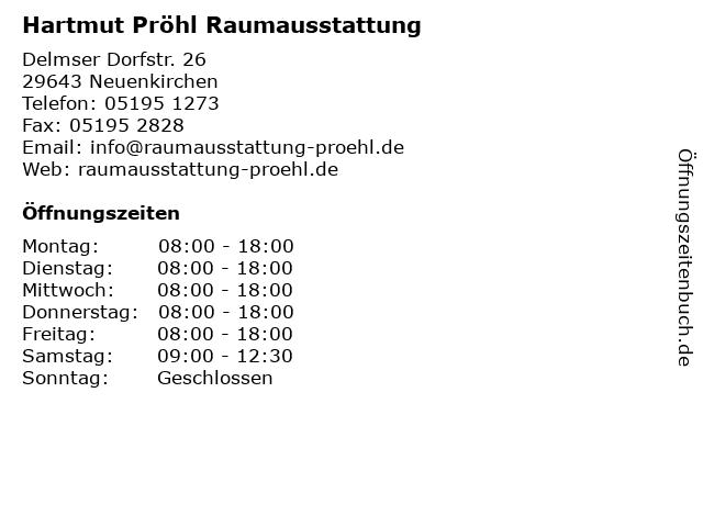 Hartmut Pröhl Raumausstattung in Neuenkirchen: Adresse und Öffnungszeiten