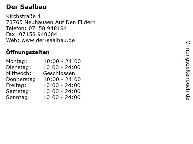 Der Saalbau in Neuhausen Auf Den Fildern: Adresse und Öffnungszeiten