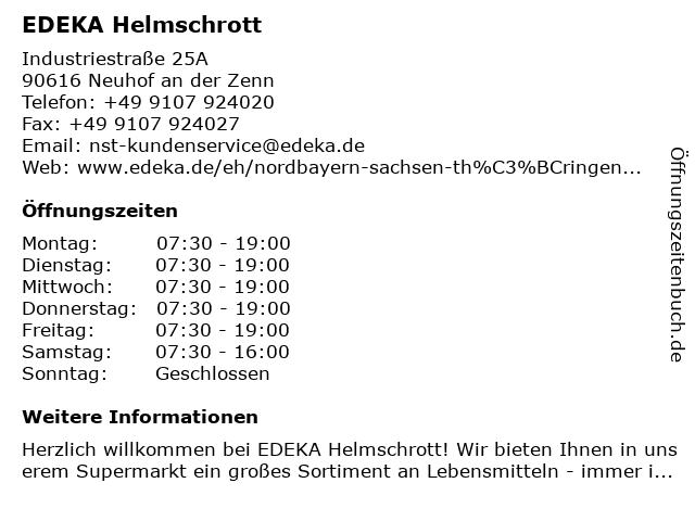 EDEKA Helmschrott in Neuhof an der Zenn: Adresse und Öffnungszeiten