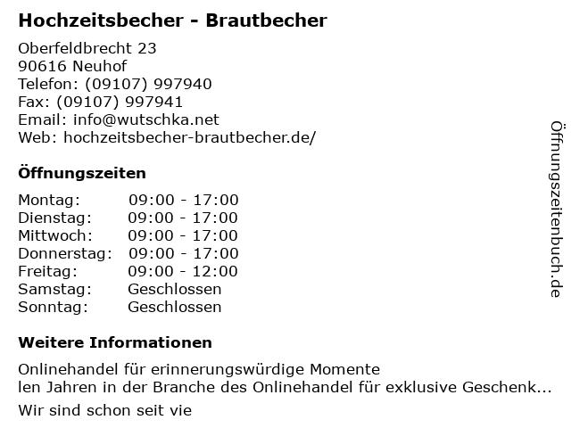 Hochzeitsbecher - Brautbecher in Neuhof: Adresse und Öffnungszeiten