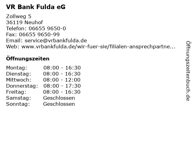Vr Bank Neuhof