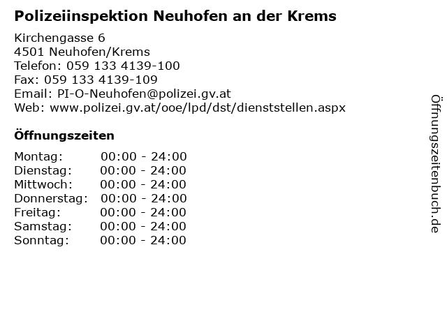 Polizeiinspektion Neuhofen an der Krems in Neuhofen/Krems: Adresse und Öffnungszeiten