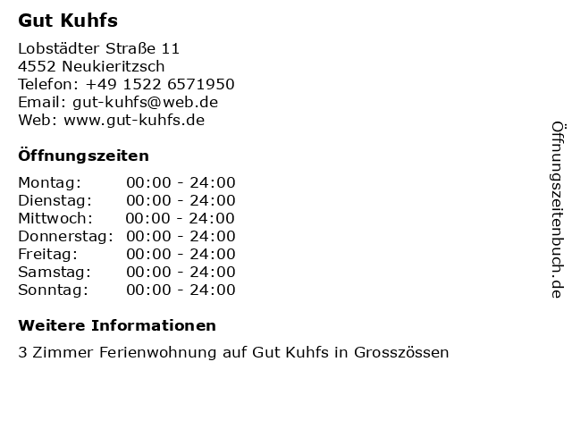 Gut Kuhfs in Neukieritzsch: Adresse und Öffnungszeiten