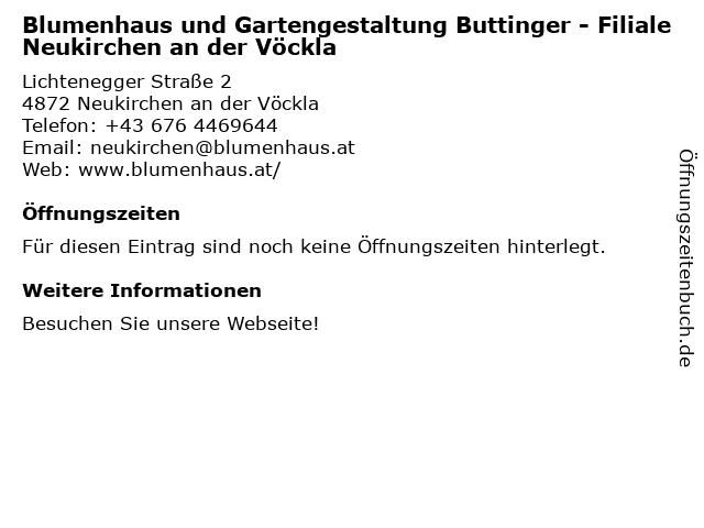 Blumenhaus in Neukirchen: Adresse und Öffnungszeiten