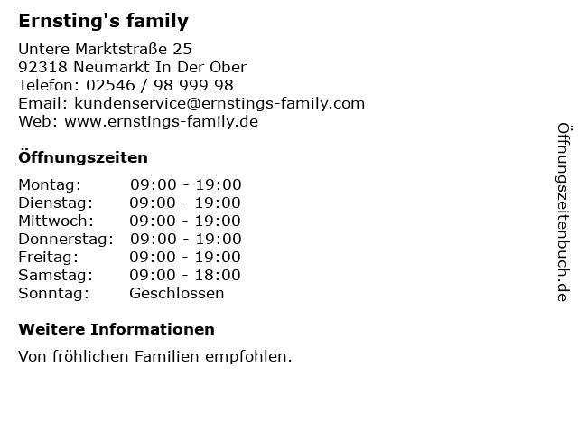 Ernsting's family in Neumarkt In Der Ober: Adresse und Öffnungszeiten