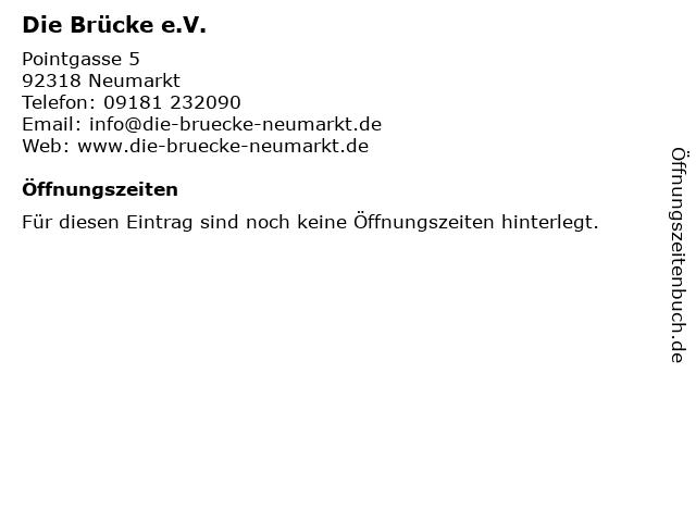 Die Brücke e.V. in Neumarkt i d OPf: Adresse und Öffnungszeiten