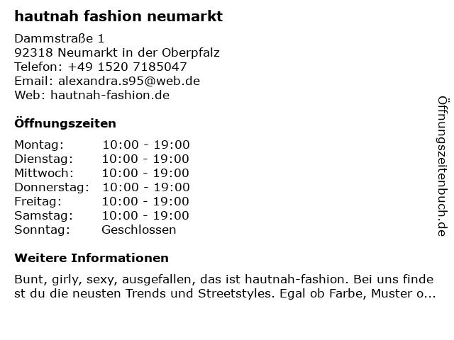 Fashion by Rieker in Neumarkt: Adresse und Öffnungszeiten