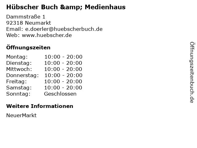 Hübscher Buch & Medienhaus in Neumarkt: Adresse und Öffnungszeiten