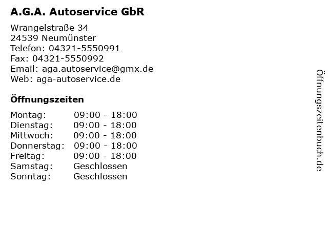 A.G.A. Autoservice GbR in Neumünster: Adresse und Öffnungszeiten