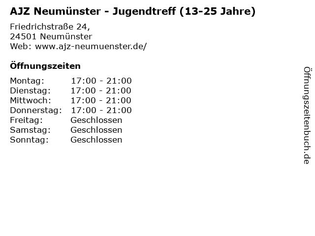 AJZ Neumünster - Jugendtreff (13-25 Jahre) in Neumünster: Adresse und Öffnungszeiten