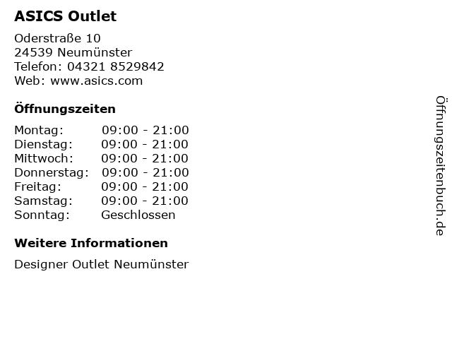 ASICS in Neumünster: Adresse und Öffnungszeiten
