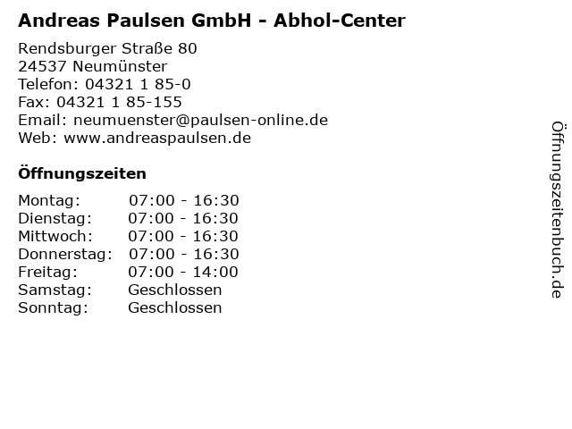 Andreas Paulsen GmbH - Abhol-Center in Neumünster: Adresse und Öffnungszeiten