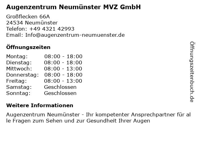 Augenarztpraxis Dr. Dirk Marquardt in Neumünster: Adresse und Öffnungszeiten