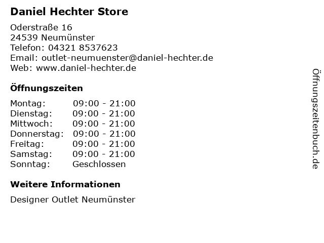 Daniel Hechter Store in Neumünster: Adresse und Öffnungszeiten
