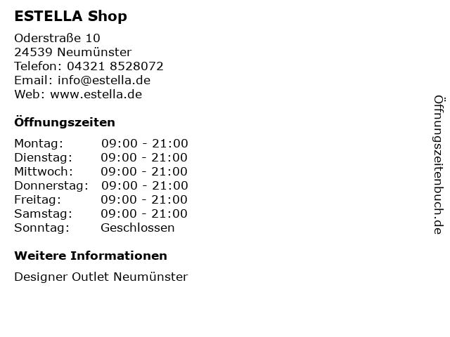 Estella in Neumünster: Adresse und Öffnungszeiten