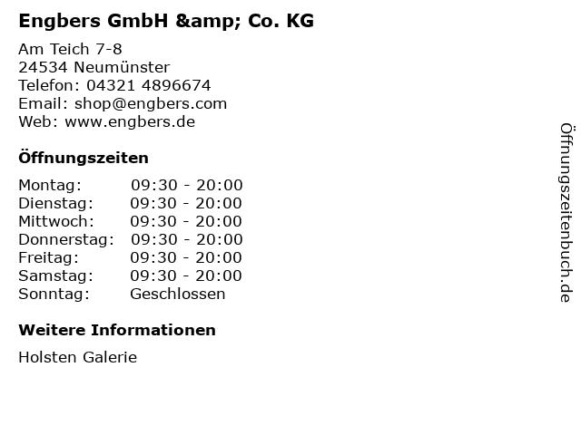 Engbers GmbH & Co. KG in Neumünster: Adresse und Öffnungszeiten