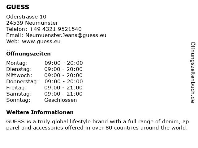 GUESS Factory Store in Neumünster: Adresse und Öffnungszeiten