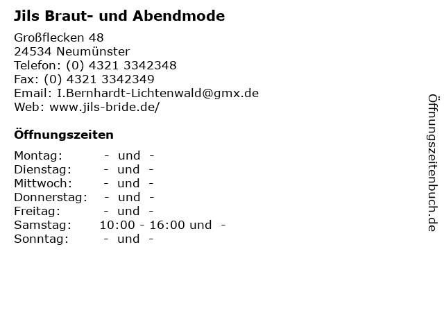Jils Braut- und Abendmode in Neumünster: Adresse und Öffnungszeiten