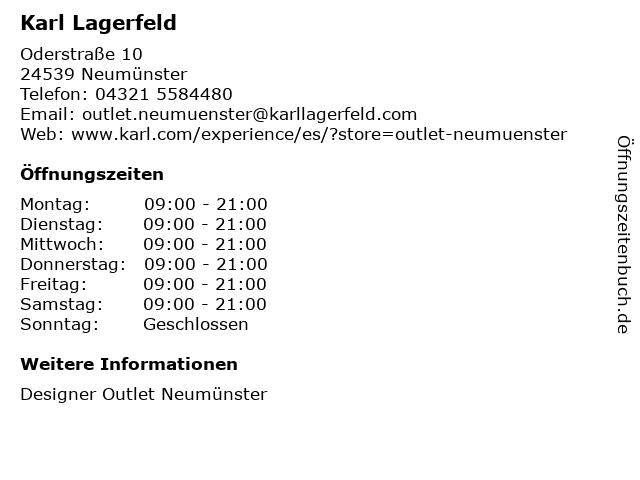 Karl Lagerfeld in Neumünster: Adresse und Öffnungszeiten