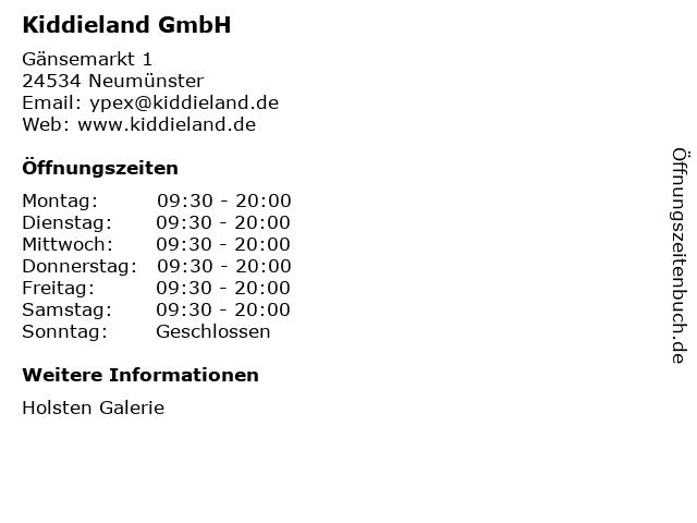 Kiddieland GmbH in Neumünster: Adresse und Öffnungszeiten