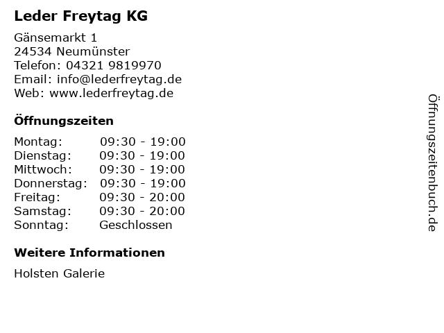 Leder Freytag KG in Neumünster: Adresse und Öffnungszeiten