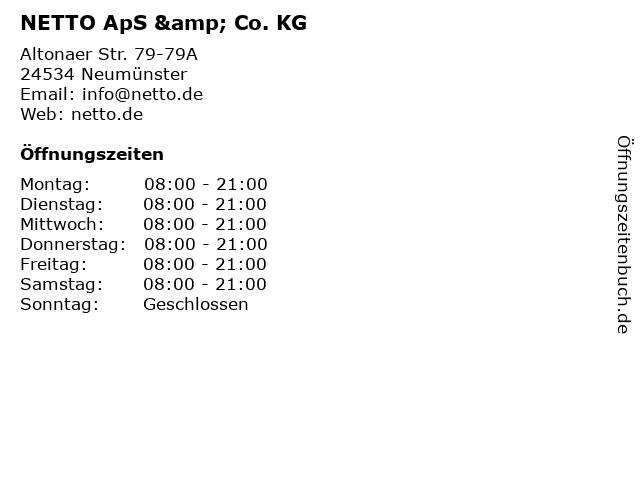 NETTO ApS & Co. KG in Neumünster: Adresse und Öffnungszeiten
