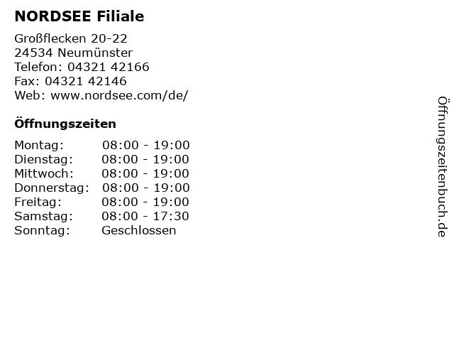 NORDSEE Filiale in Neumünster: Adresse und Öffnungszeiten