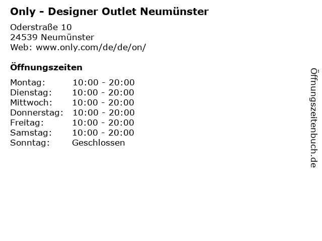 Only - Designer Outlet Neumünster in Neumünster: Adresse und Öffnungszeiten