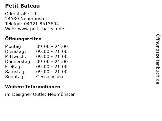 Petit Bateau in Neumünster: Adresse und Öffnungszeiten
