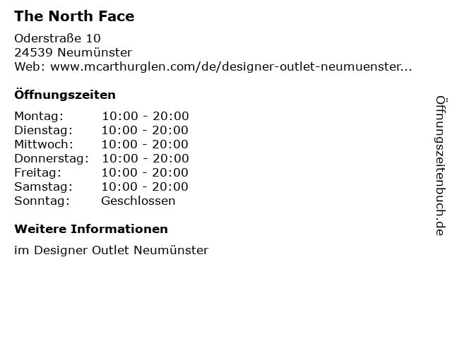 The North Face in Neumünster: Adresse und Öffnungszeiten