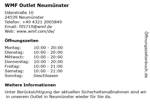 WMF Outlet Neumünster in Neumünster: Adresse und Öffnungszeiten