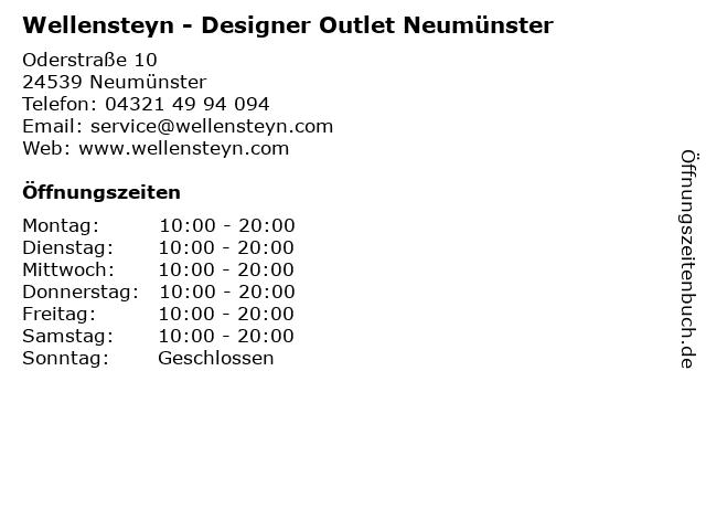 Wellensteyn - Designer Outlet Neumünster in Neumünster: Adresse und Öffnungszeiten