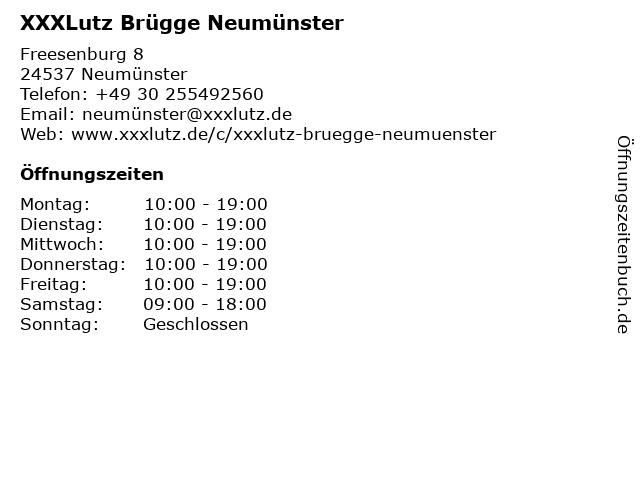 ᐅ öffnungszeiten Möbel Brügge Neumünster Freesenburg 8 In