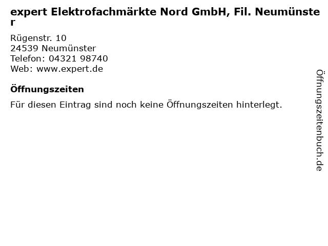 expert Elektrofachmärkte Nord GmbH, Fil. Neumünster in Neumünster: Adresse und Öffnungszeiten