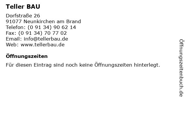 Teller BAU in Neunkirchen am Brand: Adresse und Öffnungszeiten
