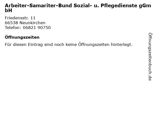 Arbeiter-Samariter-Bund Sozial- u. Pflegedienste gGmbH in Neunkirchen: Adresse und Öffnungszeiten
