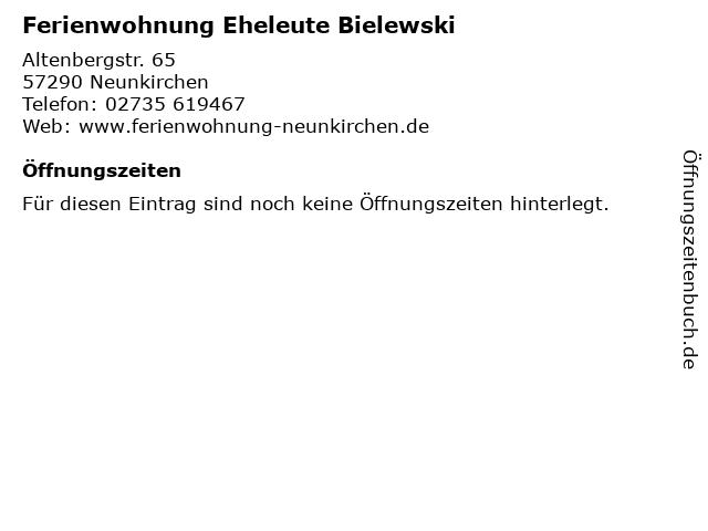 Ferienwohnung Eheleute Bielewski in Neunkirchen: Adresse und Öffnungszeiten