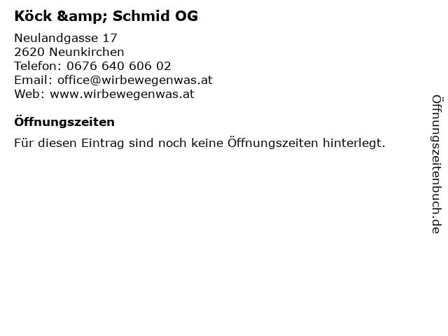 Köck & Schmid OG in Neunkirchen: Adresse und Öffnungszeiten