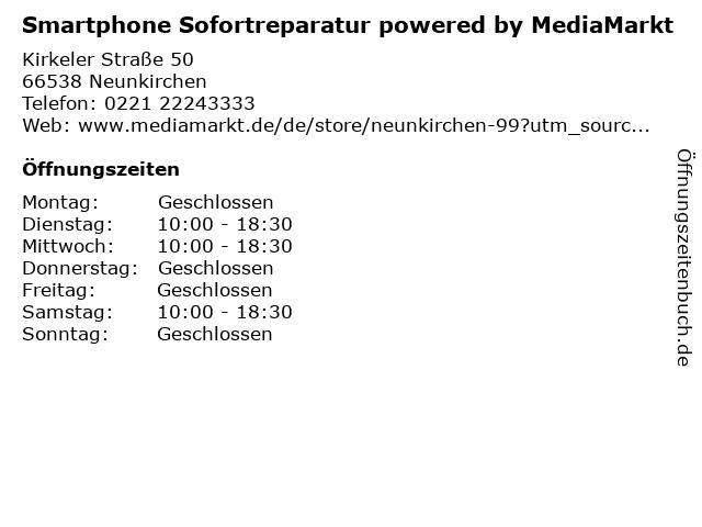 ᐅ öffnungszeiten Media Markt Neunkirchen Kirkeler Straße 50 In