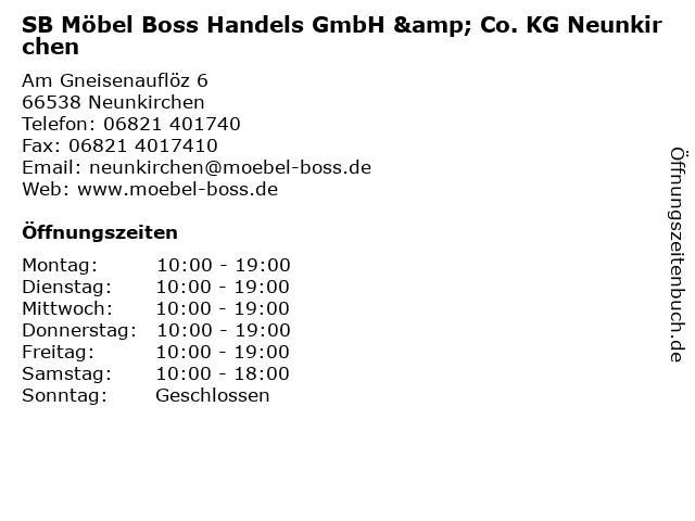 ᐅ öffnungszeiten Sb Möbel Boss Handels Gmbh Co Kg Neunkirchen