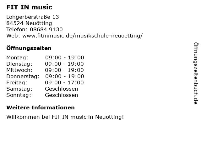 FIT IN music in Neuötting: Adresse und Öffnungszeiten