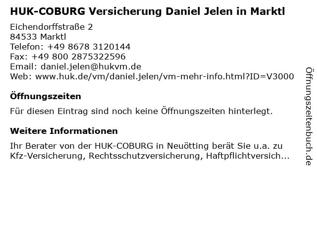 HUK-COBURG Versicherung Daniel Jelen in Neuötting in Neuötting: Adresse und Öffnungszeiten