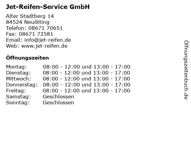 Jet-Reifen-Service GmbH in Neuötting: Adresse und Öffnungszeiten