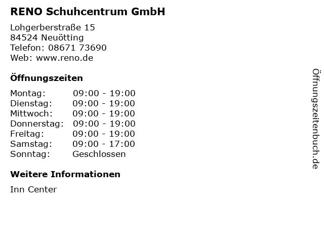 RENO Schuhcentrum GmbH in Neuötting: Adresse und Öffnungszeiten