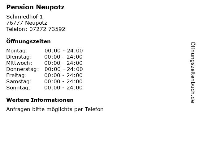 Pension Neupotz in Neupotz: Adresse und Öffnungszeiten